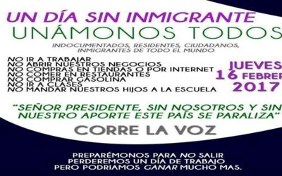Imagen del mensaje viral que convoca a una huelga de inmigrantes el pr&o...