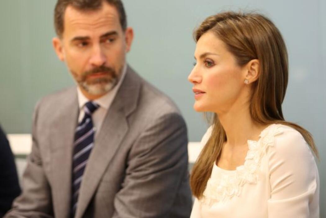 Los herederos a la corona de España, durante una reunión que mantuvieron...