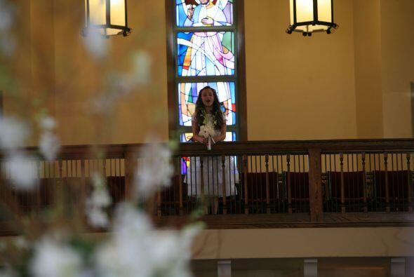 """Desde el coro se oyen los acordes del """"Ave María"""""""