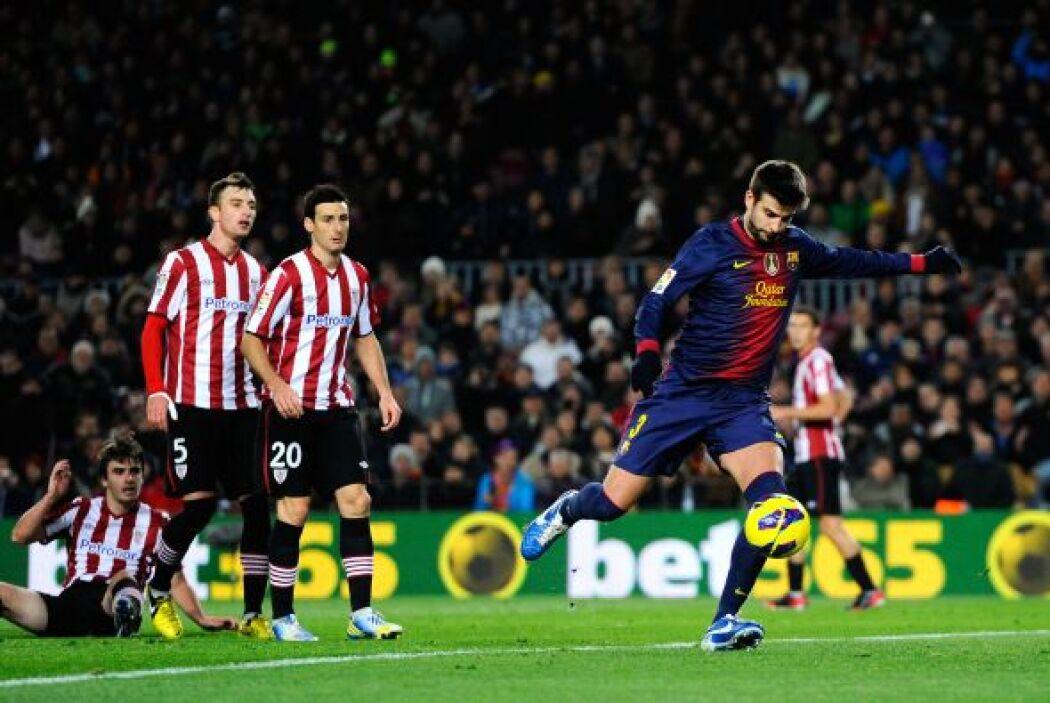 El central del Barcelona completó un partido redondo en contra del Athle...