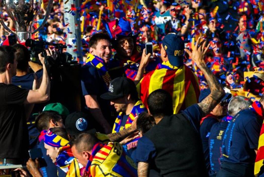 Lionel Messi no se perdió el recorrido ni por la lesión que sufrió ante...
