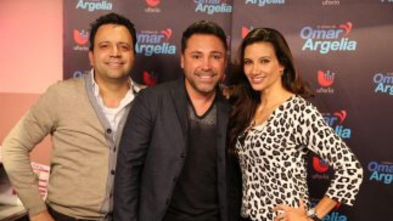Oscar De La Hoya con Omar y Argelia