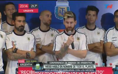 """Messi: """"No hablaremos más con la prensa por lo que le hicieron al 'Pocho..."""