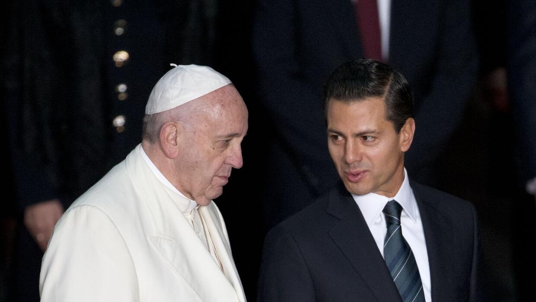 Papa Francisco y Peña Nieto en Palacio Nacional.