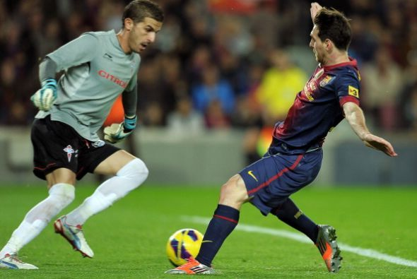 Messi tuvo oportunidades pero se quedó sin regalo de celebración.