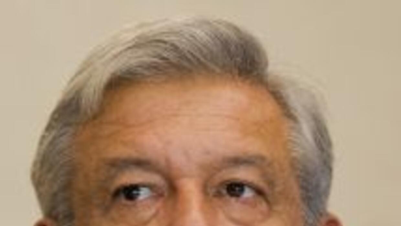 El izquierdista Andrés Manuel López Obrador.