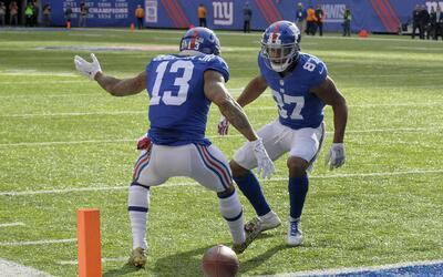 Giants intercepta a Wentz y Odell Beckham Jr. logra un touchdown a pura...
