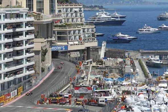 La marina de Monte Carlo, el sitio de privilegio para el Gran Premio de...