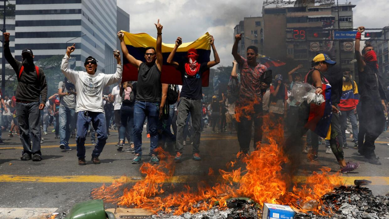 Rally against Venezuela's President Nicolas Maduro's government in Carac...