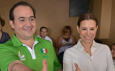 El exgobernador Javier Duarte y su esposa Karime Macías.