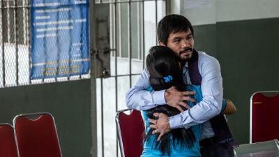 Pacquiao visitó a mujer condenada a muerte (Foto. CMB).