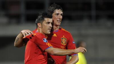 El Guaje Villa y el Niño Torres compañeros de selección y amigos.