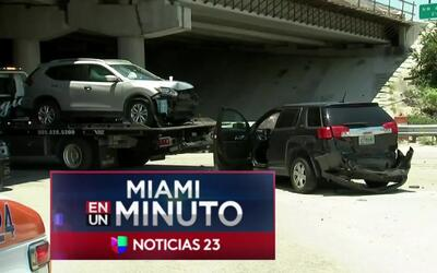 'Miami en un Minuto': investigan un accidente en el condado de Miami-Dad...