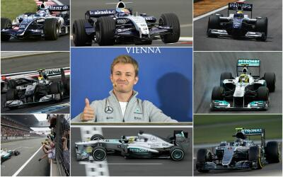 Los 11 autos de Nico Rosberg en la Fórmula 1