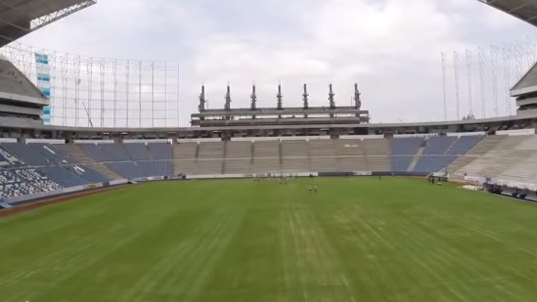 Puebla mostró los avances de su estadio.