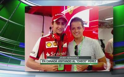 """Javier """"Chicharito"""" Hernández en el Gran Premio de Canadá"""