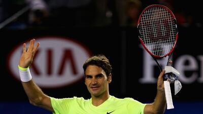 El tenista suizo le dedicó su victoria 1001 a su entrenador en el Abiert...