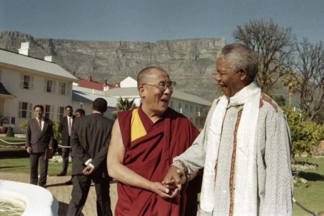 Ambos personajes sostuvieron una reunión en 1996 en Sudáfrica.