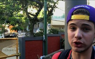 William fue en patineta a sus lugares favoritos en Rio de Janeiro