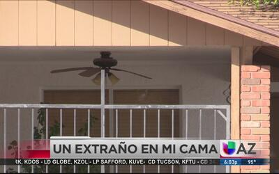 Mujer encuentra a un intruso en su casa