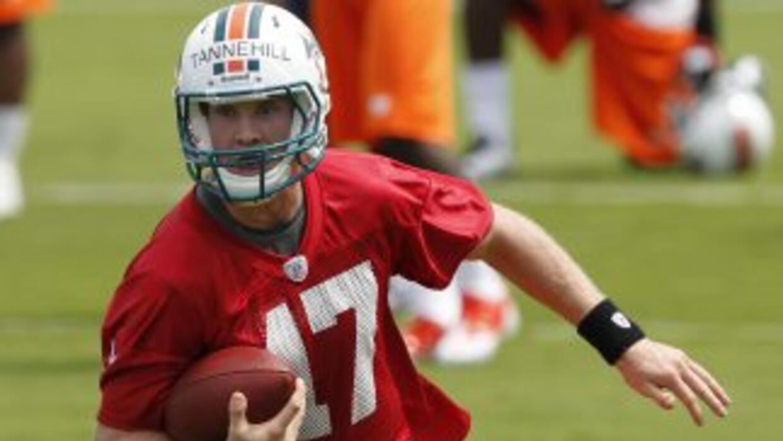 Ryan Tannehill peleará por ser el quarterback titular de los Miami Dolph...
