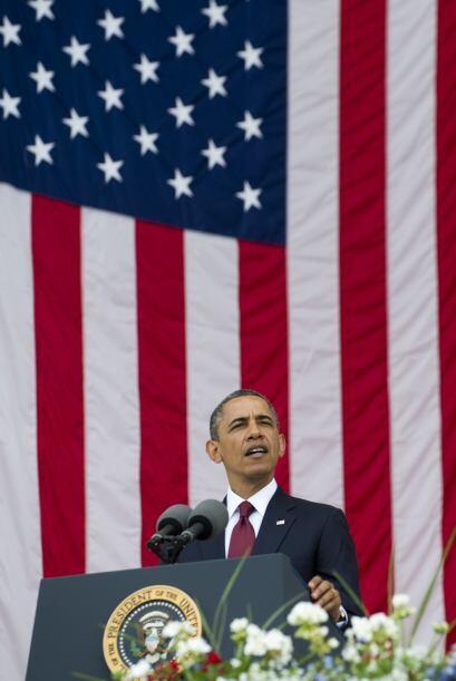 Al hablar en el Arlington National Cemetery, Obama dijo que le preocupa...
