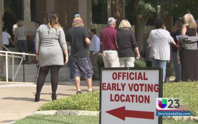 Gran participación en primer día de votación anticipada en Dallas