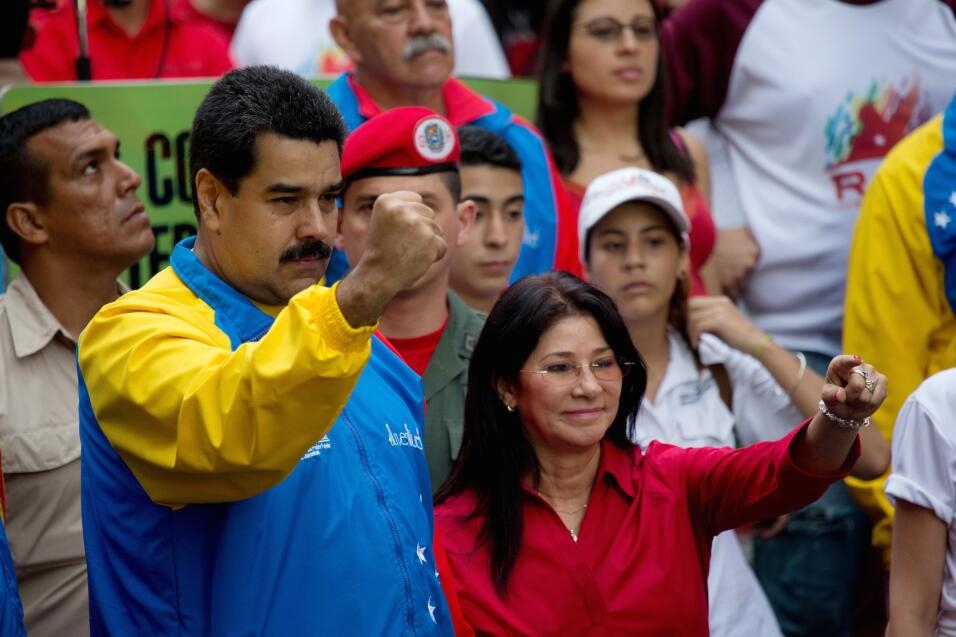 President Nicolas Maduro and First Lady Cilia Flores