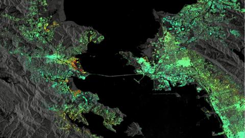 ESA estudió la superficie del área de la bahía.