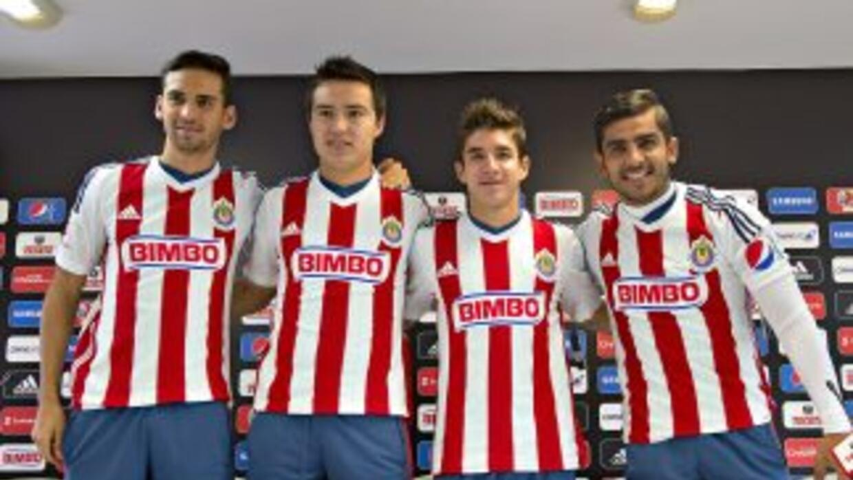 Raul Lopez, Erick Torres, Isaac Brizuela y Miguel Ponce en la presentaci...