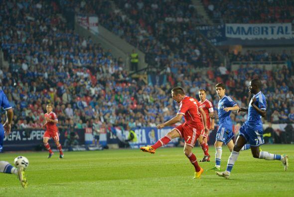 Apenas comenzó la segunda parte, Ribery empató el partido.
