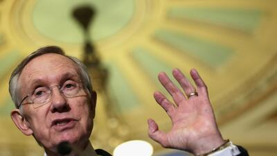 El líder de la minoría demócrata en el Senado, Harry Reid (D-NV).