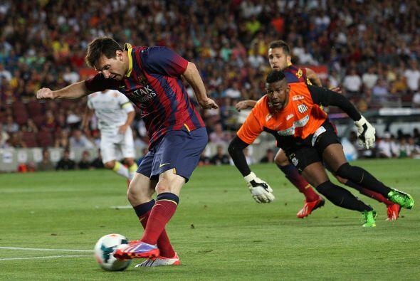 Messi fue autor del primer gol del Barcelona.