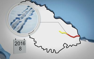 Enorme grieta podría hacer que plataforma helada en Antártida colapse