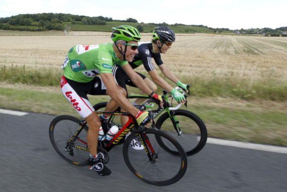 El jersey verde lo portó el belga Phillipe Gilbert, sin embargo, el gust...