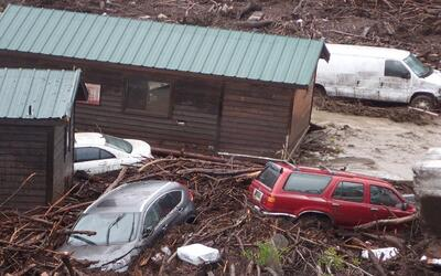 Las lluvias caídas en el condado de Santa Barbara originaron un t...