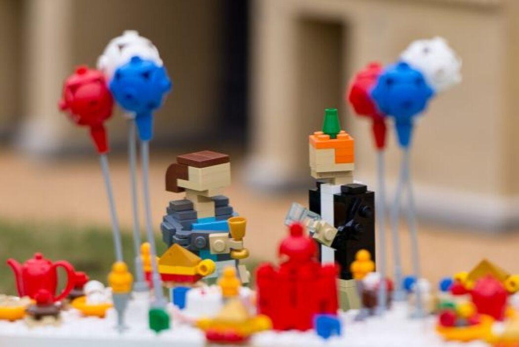 La gran celebración contaba con detalles tradicionales en miniatura de p...