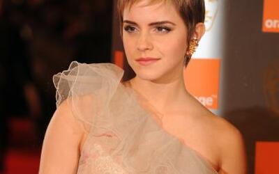 La actriz británica Emma Watson, una de las protagonistas de las...