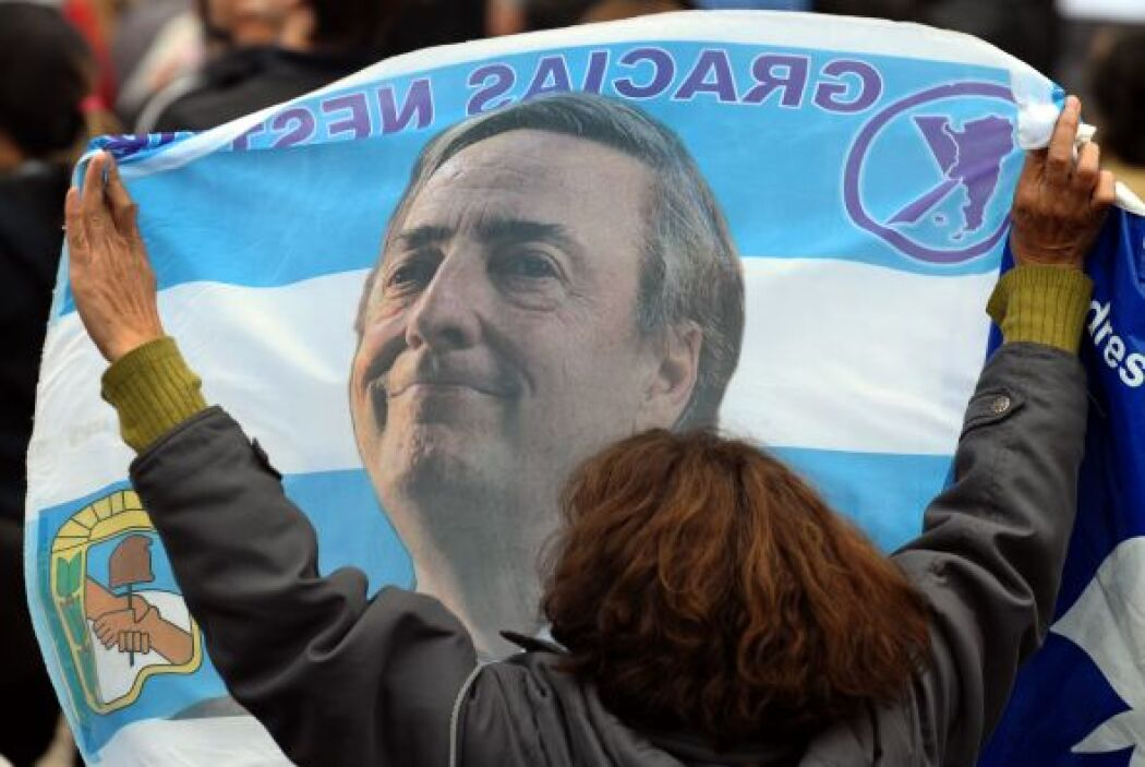 La figura del ex presidente argentino Néstor Kirchner (2003-2007) es rec...
