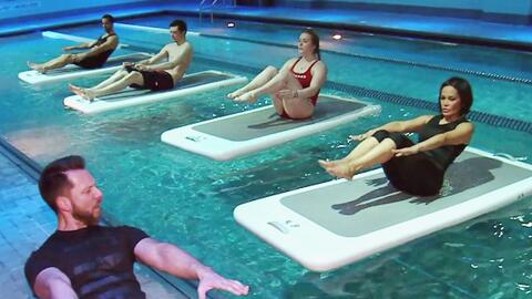 Con la rutina 'Agua Bendita' te ejercitarás en el agua, pero sin mojarte