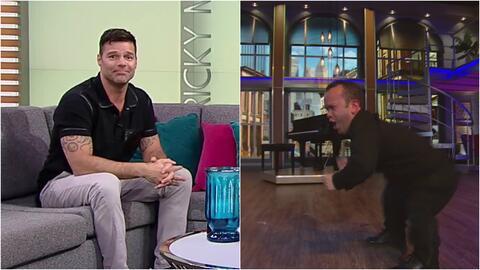 Carlitos 'el productor' quiere bailar en el show de Ricky Martin y demos...