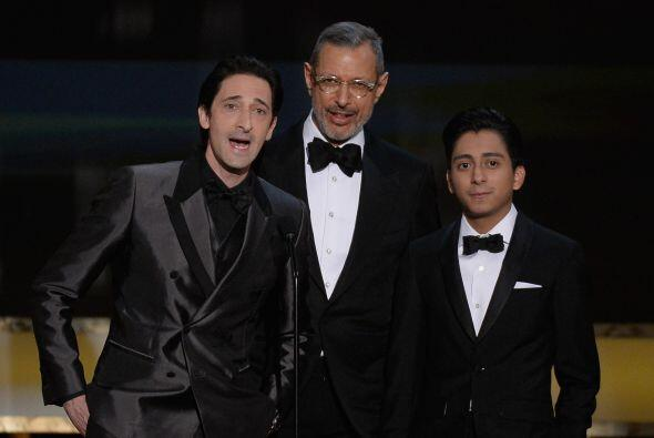 De 'The Grand Budapest Hotel', Adrien Brody, Jeff Goldblum y Tony Revolori.
