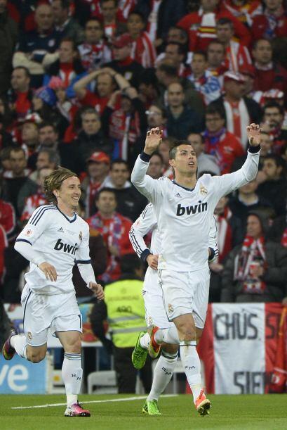 Así festejó su séptimo gol al Atlético de Madrid desde que llegó a la Li...