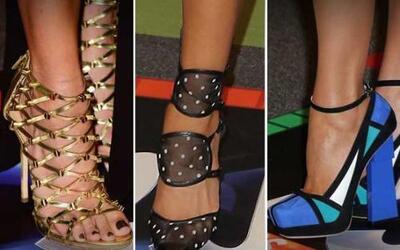 Las celebridades se esmeraron en cada detalle de su look y algunos zapat...