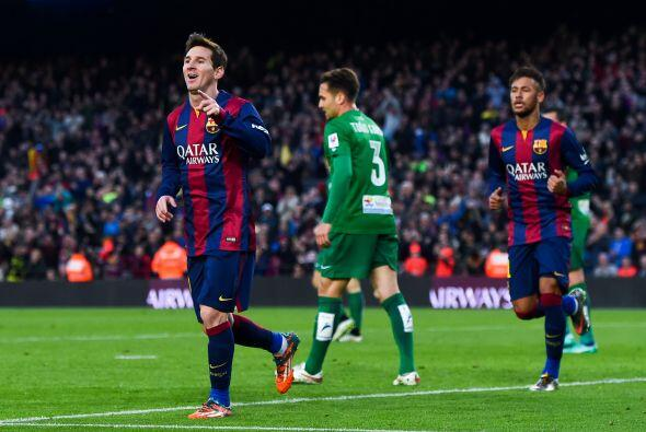 Messi pondría el segundo en el marcador al minuto 38 de tiempo co...