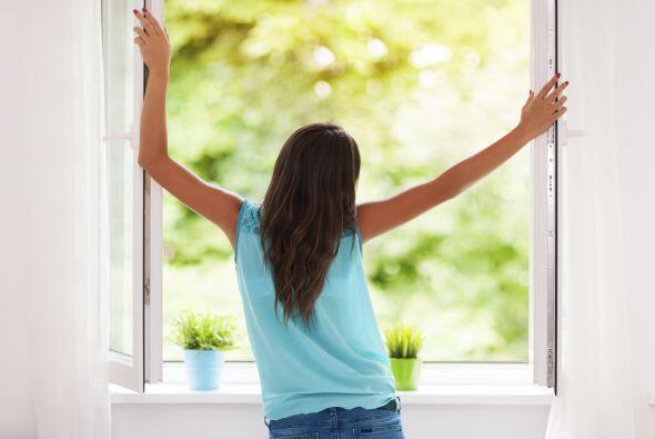 Primero abre completamente una ventana que mire a una calle o lugar tran...