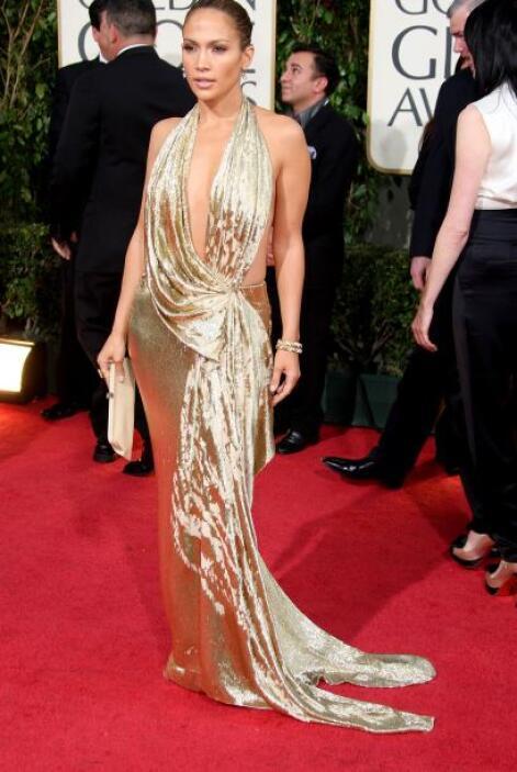 Con este diseño dorado de Marchesa logró posicionarse como la mujer de n...