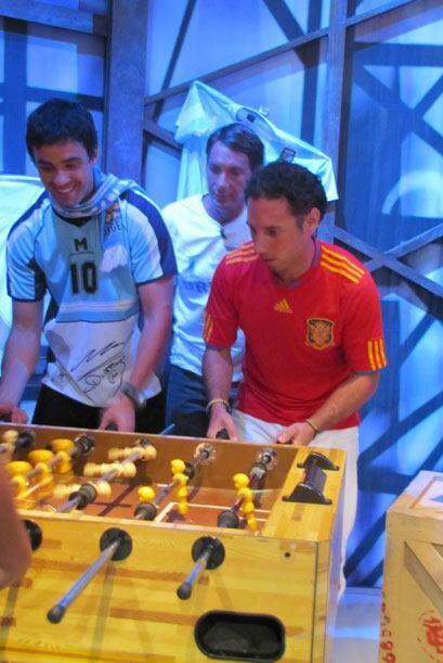 Matías de Argentina, Alvaro de Uruguay y Josep de España s...