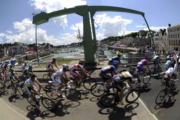 La cuarta etapa fue de 214 kilómetros entre Abbeville y Rouen.