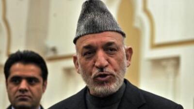 Hamid Karzai, presidete de Afganistán.